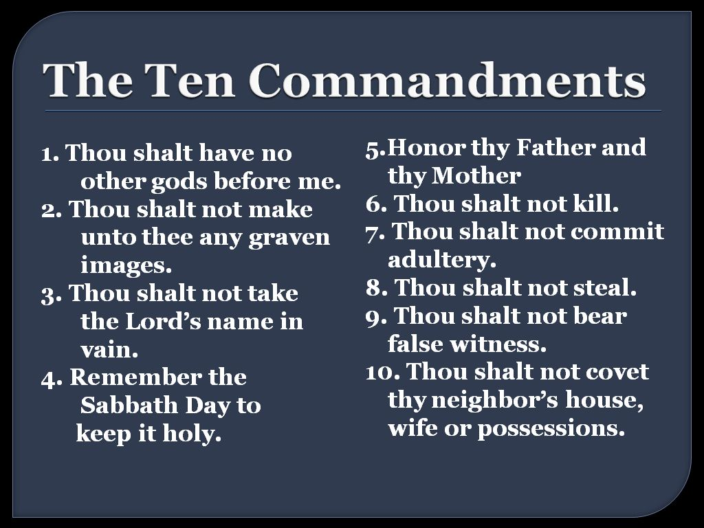 The 10 Commandments. Why they're still relevant. | Pastor ...